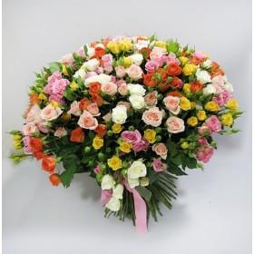 Большой букет из 101 розы