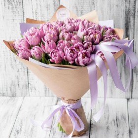 Букет с пионовидными тюльпанами Алиса