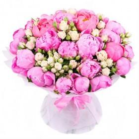 Букет с пионами Розовый сад