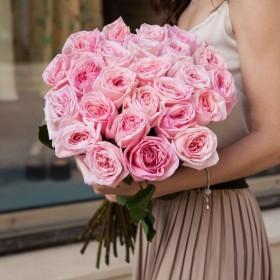 Букет с пионовидными розами Пинк Охара