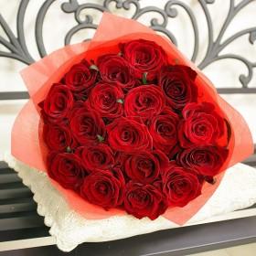 Букет из  19 роз Русский рубин