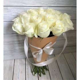 Букет 25 роз в конусе