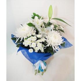 Букет с хризантемами Агазон