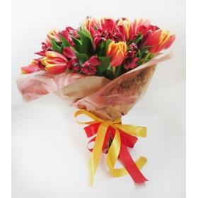 Букет с тюльпанами Элис