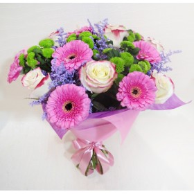 Букет с розами и герберами №106