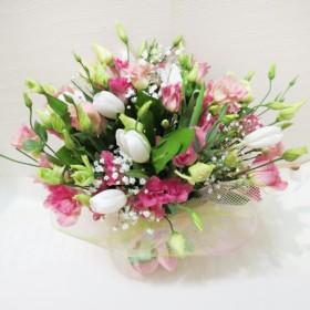 Букет из 21 тюльпана Колибри