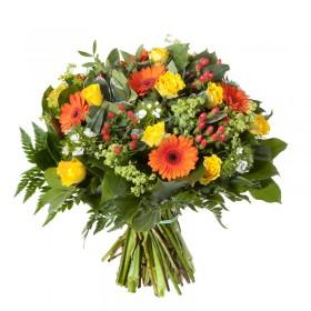 Букет цветов с герберами и розами - № 177