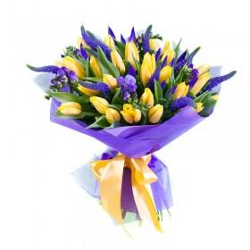 Букет с тюльпанами №179