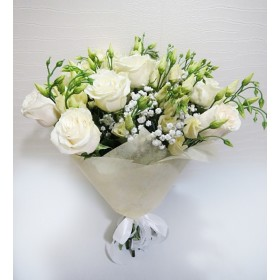 """Букет с розами """"Белый парус"""""""