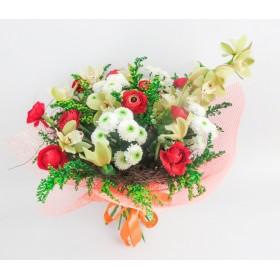 Букет цветов Жар птица