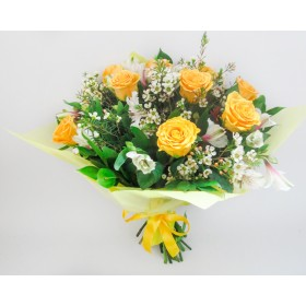 Букет желтых роз №109