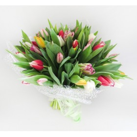 Букет тюльпанов  Весенний микс