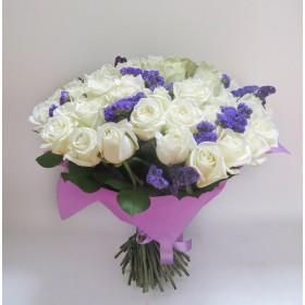 Букет белых роз №110