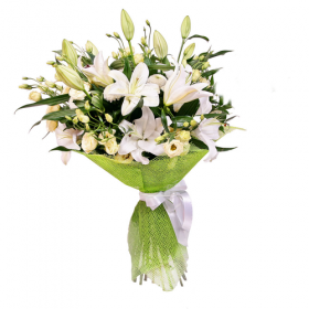 Подарочный букет лилий №139