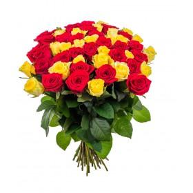 Подарочный букет ярких роз №142