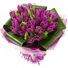 Букет тюльпанов Фиолет