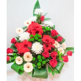 Большая корзина цветов №103