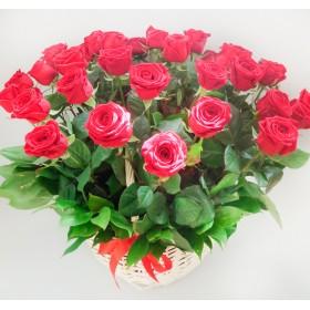 Корзина роз №110