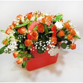 Сумочка с цветами Привет!