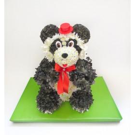 Игрушка из цветов Панда