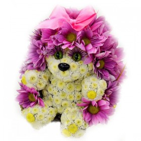 Игрушка из цветов Ежиха Стеша