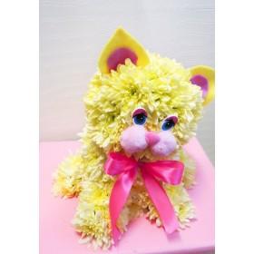 Игрушка из цветов Котёнок