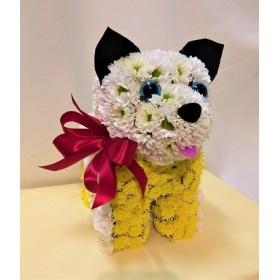 Игрушка из цветов щенок Буч
