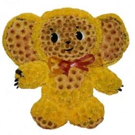 Игрушка из цветов Чебурашка