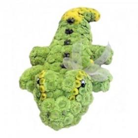 Игрушка из цветов Крокодил