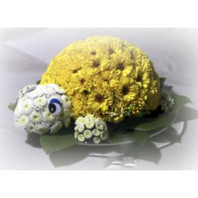 Игрушка из цветов Черепашка