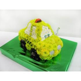 Игрушка из цветов Машинка