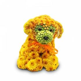 Игрушка из цветов Щенок