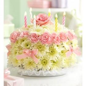 Композиция из цветов С днем рождения