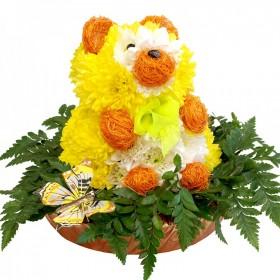 Игрушка из цветов Лаки