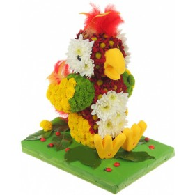 Игрушка из цветов Попугайчик