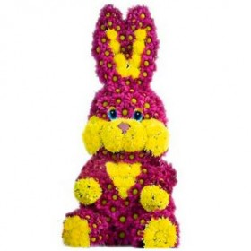 Игрушка из цветов Зайчишка