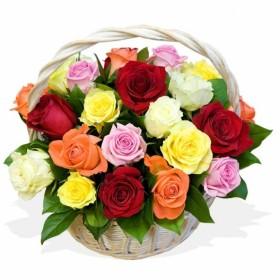 Корзина цветов №314