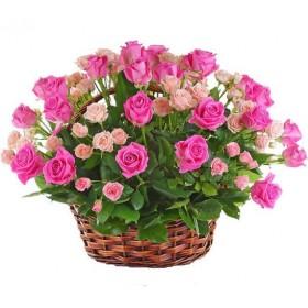 Корзина с розами №326