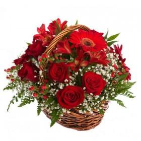 Корзина цветов №327