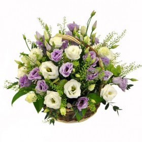 Корзина цветов №328