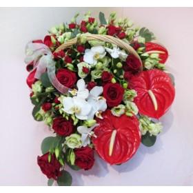 Корзина цветов №305