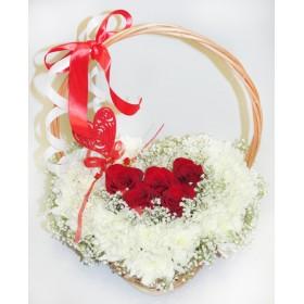 Сердце из цветов Милашка