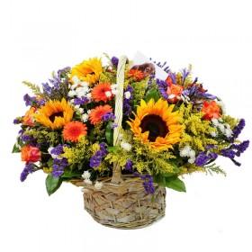 Корзина цветов №299
