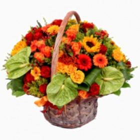 Корзина цветов №300