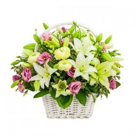 Корзина цветов №306
