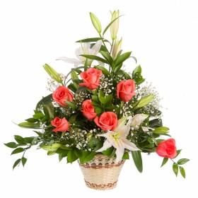 Корзина цветов №307