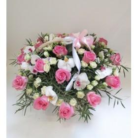 Корзина цветов №309