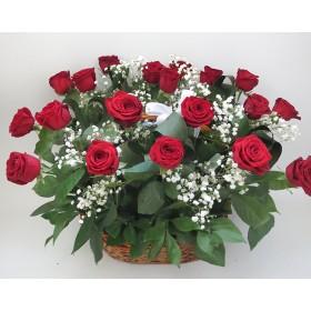 Корзина цветов №310