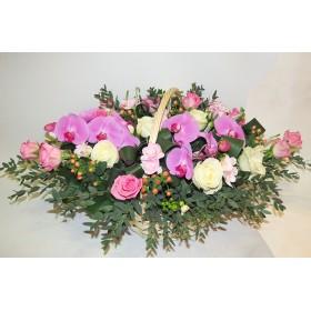 Корзина цветов №311