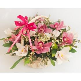 Корзина цветов №312